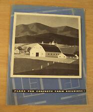 """VTG 1942 WWII PORTLAND CEMENT Advertising~""""PLANS for CONCRETE FARM BUILDINGS"""""""