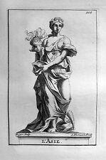 ASIEN (ALLEGORIE) ASIE ASIA ALLEGORY S.THOMASSIN 1723 WEIHRAUCH GEWÜRZE HANDEL