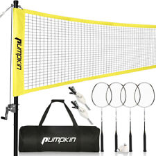 Professional Badminton Net Set w/ 4 Carbon Fiber Rackets, 2 Shuttlecocks, Bag US