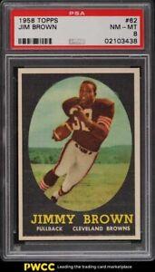 1958 Topps Football Jim Brown ROOKIE RC #62 PSA 8 NM-MT