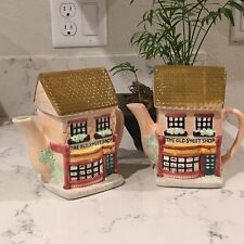 "Pair ""The Old Sweet Shop"" Figurine Teapot Vintage 80's"