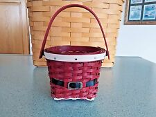 Longaberger Collector Club Mini Santa Belly Measuring Basket Farm Collection New