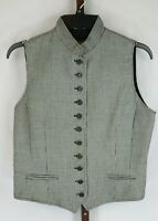 British Khaki Womens Ladies Black White Vest Size 10