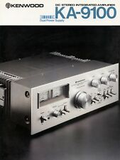 Kenwood KA-9100 integrated amplifier b&w PAPER COPY of the very rare brochure