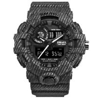 SMAEL Men Sport Analog Digital LED Dual Military Tactical Waterproof Wrist Watch