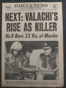 Valachi - Mafia - World Series - Baseball - 1963 New York Daily News Newspaper