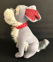 """Vintage Disney Lady and the Tramp Plush TRAMP Red Collar Dog 10"""" Tall Stuffed"""