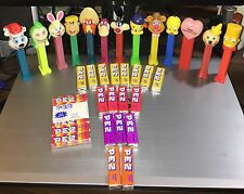 Lot of 13 Vintage Assorted Character Pez Dispensers & Candies.Looney Toons, Etc.