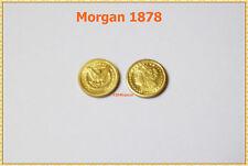 mini Pièce Arras OR 22K GE MORGAN 1878 One Dollar USA Eagle GOLD CLAD Coin