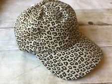 Distressed Blessed Beige With Leopard Baseball Cap New w//Tags