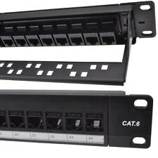 kenable 24 Port Rj45 Cat6 Gigabit Through Coupler Patch Panel With Back Bar