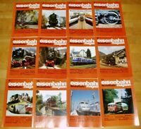 12x Eisenbahn Modellbahn 1989 Magazin komplett Hefte 1-12 Sammlung Modellbau Lok