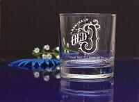 Personalised  Old J rum logo Tumbler glass/present/gift Birthday,X-mas 85