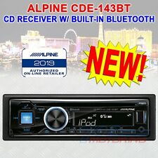ALPINE CDE-143BT CD BUILT-IN BLUETOOTH iPOD AUX USB MP3 SINGLE-DIN 50 WATT RADIO