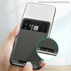 Baseus New Stick On Phone Cell Phone Wallet Sticker Adhesive Credit Card Holder