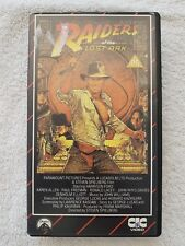Raiders Of The Lost Ark CIC UK PAL VHS VIDEO early 1984 release Harrison Ford