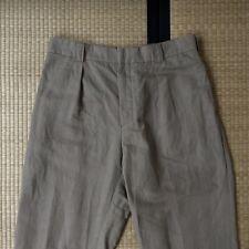 Margaret Howell la línea principal del Pantalón plisado del único Algodón Lino dobladillo sin rematar Talla S