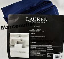 Ralph Lauren Spencer 475 Thread Count Sateen QUEEN Sheet Set Navy Blue