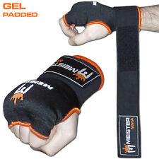 MEISTER GEL PADDED PROWRAPS Inner Hand Wrap Gloves - MMA Boxing Wrist Fight PAIR