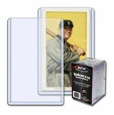 100 PK BCW Tobacco Size Toploader Card Holders Allen & Ginter Toploads T-206