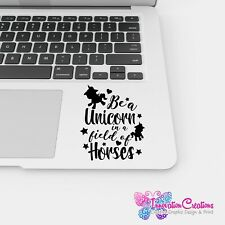 Be A Unicorn In A Field Of Horses Cute Vinyl Graphic Adhesive Decal Sticker