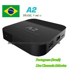 2018 Newest A2 TV BOX Portuguese Brazil live TV IPTV Media Streamer adult movies