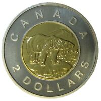 🇨🇦 Canada 2 (Two) Dollars $2 Coin, Toonie, Polar Bear, 2003
