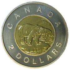 Canada 2 (Two) Dollars $2 Coin, Toonie, Polar Bear, Old Effigy, 2003