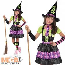 Spellbound Witch Age 8-10 Girls Halloween Fancy Dress Kids Childrens Costume