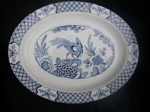 Wood and Sons YUAN. Oval Meat Dish or Steak plate. 12  x  9½ inches.