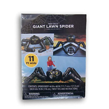 11 Ft Giant Lawn Yard Spider Halloween Decoration Fillable Spooky Poseable New!