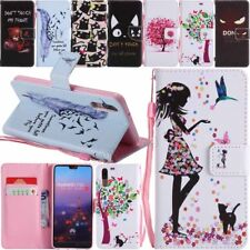 For Huawei P9 P10 P20 Lite /Mate 10 Pro Leather Wallet Card Slot Flip Case Cover