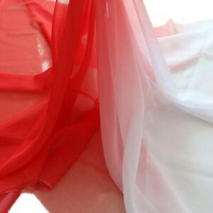 1Yard gradient imitated silk mateiral 30d chiffon fabric for dress 2 tone fabric