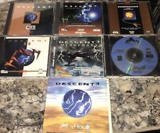 Lot of 7 DESCENT PC Games 1,2,3 Dimensions MERCENARY Whiplash INTERPLAY