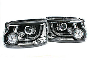 Bi Xenon Headlights Front Lamps PAIR Fit LAND ROVER Discovery Lr4 2013- Facelift