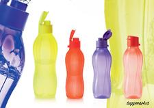 """TUPPERWARE Aqua Ecco Bottle SET 750ml + 3 x 500ml """"Easy Cap"""" New Colors"""