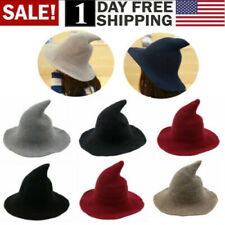 Women Witch Hat Halloween Modern Witch Hat Made From High Quality Sheep Wool Usa