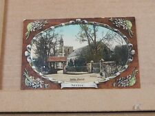 Postcard settle Church yorkshire unposted embossed   XC3