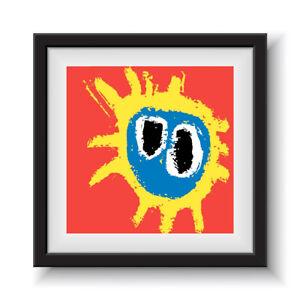 "Primal Scream - Screamadelica    12"" Album Cover - Framed 16"" x 16"""