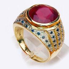 Philip Well  Ruby Diamond 13.24ct  Mens Ring  Yellow Gold  14Carat - New