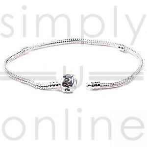925 Silver Snake Charm Bracelet With Snap Clasp Beads Barrel Bracelets Bangle