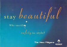 Renault Megane 1999 UK Market Launch Brochure Hatchback Coupe Classic Cabriolet