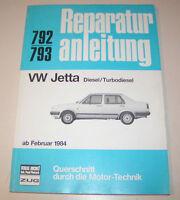 Reparaturanleitung VW Jetta II (Typ 16E/19E) Diesel / Turbodiesel - ab 1984!