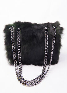 BORSETTERIA Women's Handbag Genuine Leather & Fur Made In Italy RRP: 235 EUR
