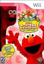 SESAME STREET ELMO'S A-TO-ZOO ADVENTURE Nintendo Wii Game
