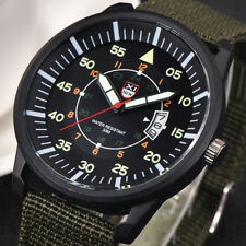 Military Mens Stainless Steel Luminous Dial Date Luxury Sport Wrist Watch