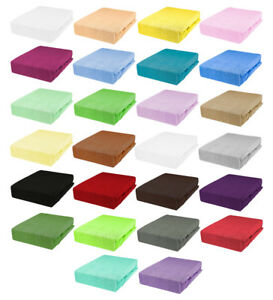 Frottee Spannbetttuch Spannbettlaken Bettlaken Bettücher 26 Farben 6 Größen