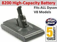 21.6V 8200mAh Li-ion Vacuum Battery For Dyson V8 Absolute Animal Fluffy Cordless