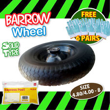 "16"" 390mm Wheelbarrow 85mm Wide Tyre  Flat Solid Wheel Barrow 24.6mm Bore Tire"