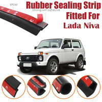 Car Seal Strip Kit Rubber Weather Draft Wind Noise Reduction For Lada Niva